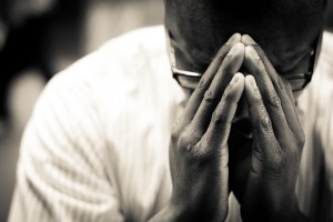 Man In Prayer Christian Stock Photo